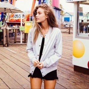 Brandy Melville Bomber Button Up Jacket Sweater